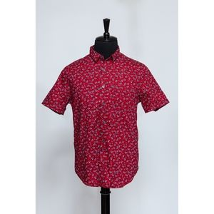 Red Floral Short Sleeve Shirt (Item No. 331)